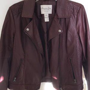 American rag purple faux leather jacket